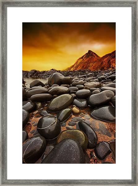 Troublesome Sky Framed Print by Mark Leader