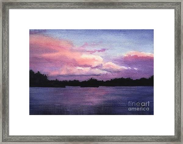 Trout Lake Sunset I Framed Print
