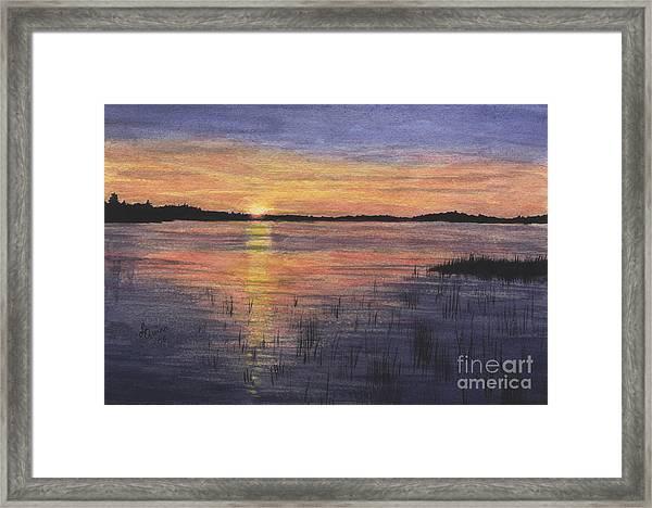 Trout Lake Sunset II Framed Print