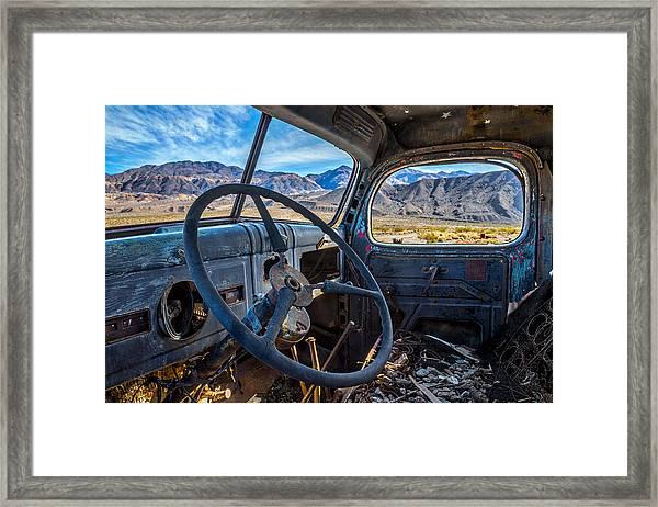 Truck Desert View Framed Print