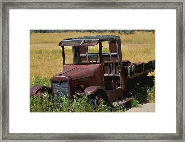 Truck Long Gone Framed Print
