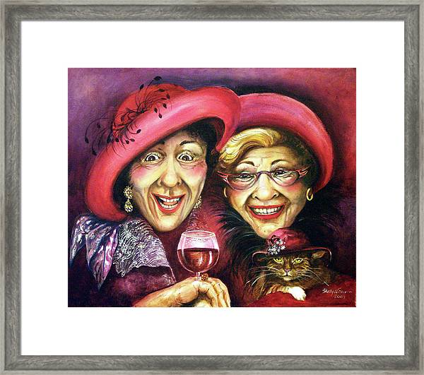 Trudy And Grace Play Dressup Framed Print by Shelly Wilkerson
