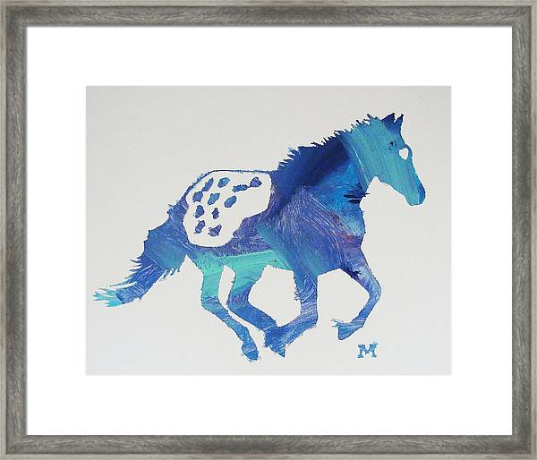 Framed Print featuring the painting True Blue by Candace Shrope
