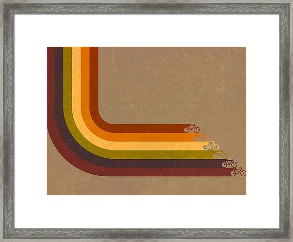 True Colors Cyclery Bikes For All Types Framed Print