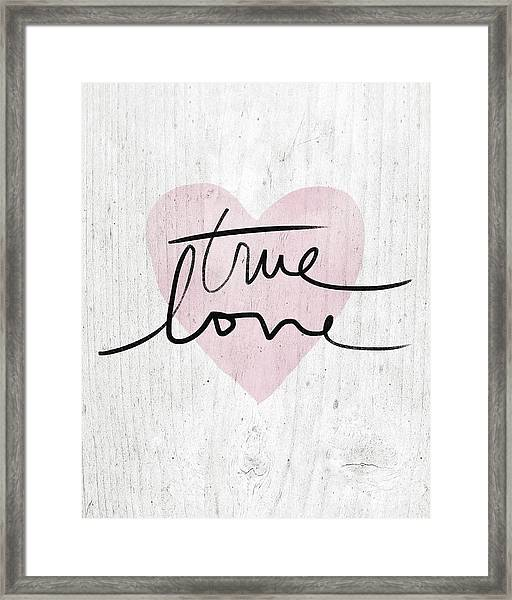 True Love Rustic- Art By Linda Woods Framed Print
