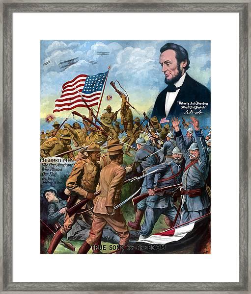 True Sons Of Freedom -- Ww1 Propaganda Framed Print