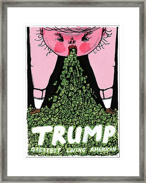 Trump Greatest Living American Framed Print by Edward Steed