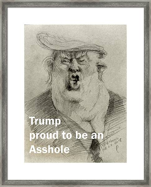 Trump The Imbecile Framed Print