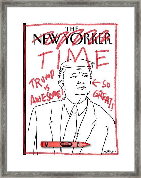 Trump Time Framed Print