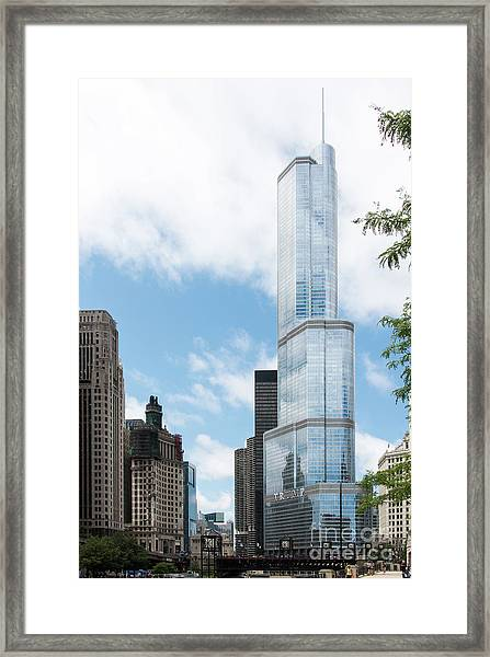 Trump Tower In Chicago Framed Print