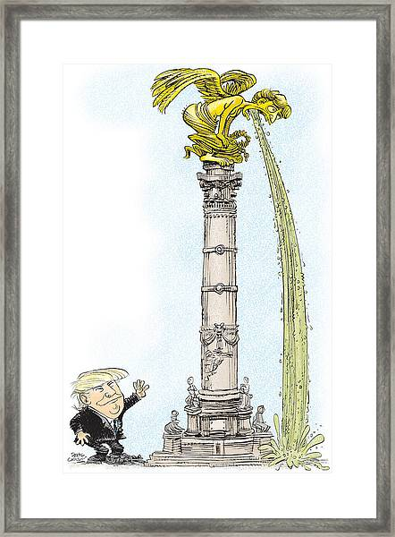 Trump Visits Mexico Framed Print