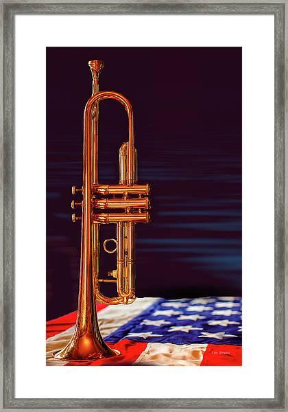 Trumpet-close Up Framed Print