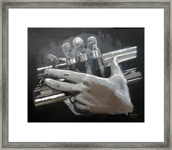 Trumpet Hands Framed Print