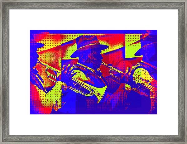 Trumpet Player Pop-art Framed Print