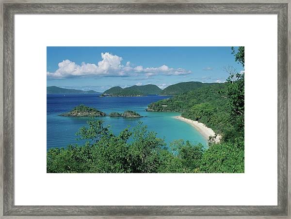 Trunk Bay And Beach Framed Print