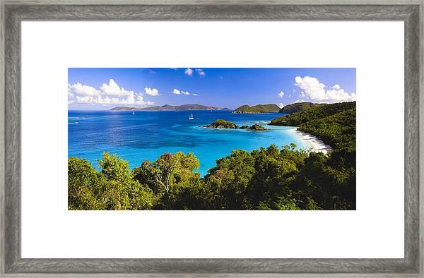 Trunk Bay Panorama Framed Print