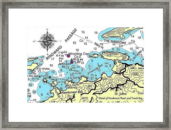 Trunk Bay, St. John Framed Print