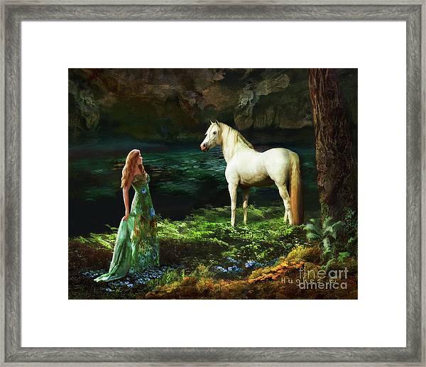 Framed Print featuring the digital art Trust Me by Melinda Hughes-Berland