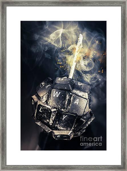 Truth Bombs Framed Print
