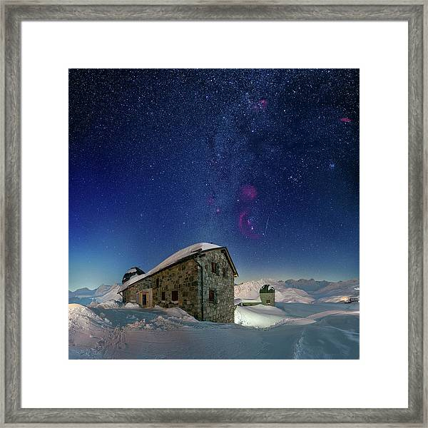 Tschuggen Observatory Framed Print