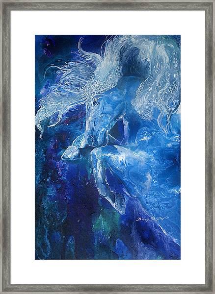 Tsunami Water Horse Framed Print