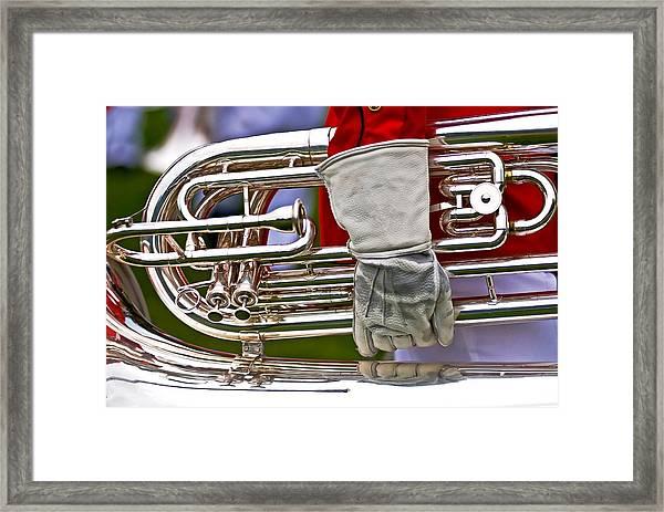 Tuba Player. Usmc Band Framed Print