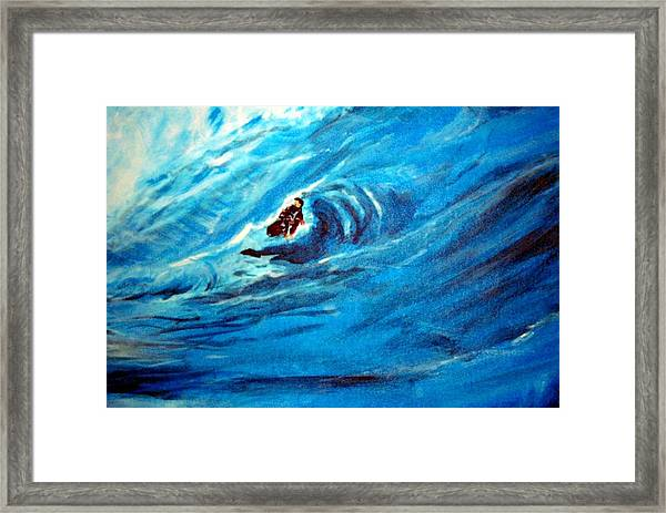 Tube Riding The Banzai Pipeline Framed Print