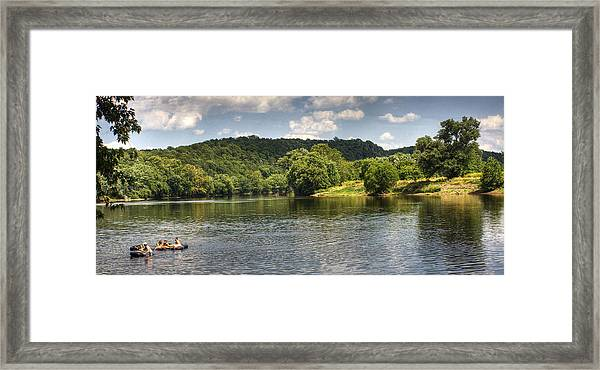 Tubing On The James River Framed Print
