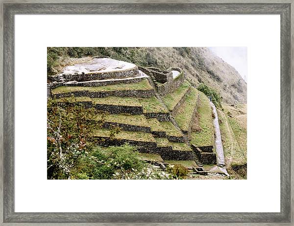 Tucked In A Mountain Framed Print