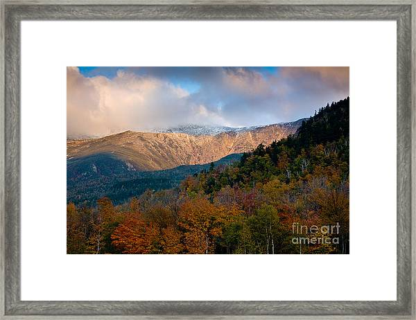 Framed Print featuring the photograph Tuckermans Ravine In Autumn by Susan Cole Kelly