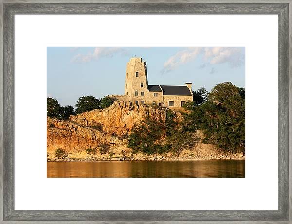 Tucker's Tower Lake Murray Oklahoma Framed Print