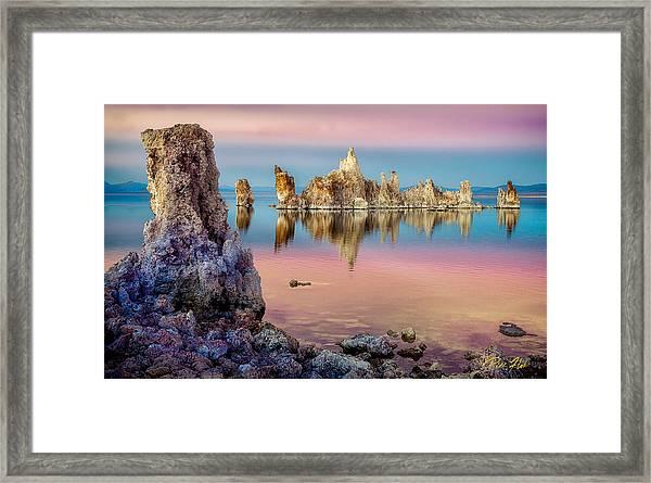Tufas At Mono Lake Framed Print