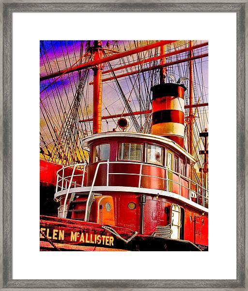 Tugboat Helen Mcallister Framed Print