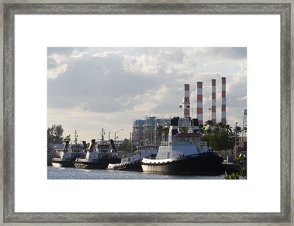 Tugs Framed Print