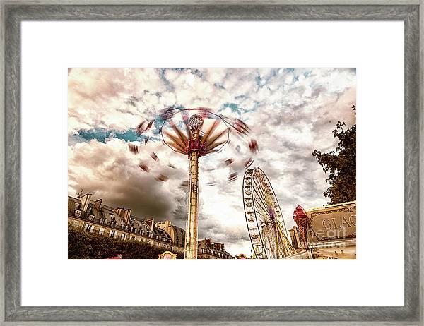 Tuilerie Garden Paris Swings Framed Print