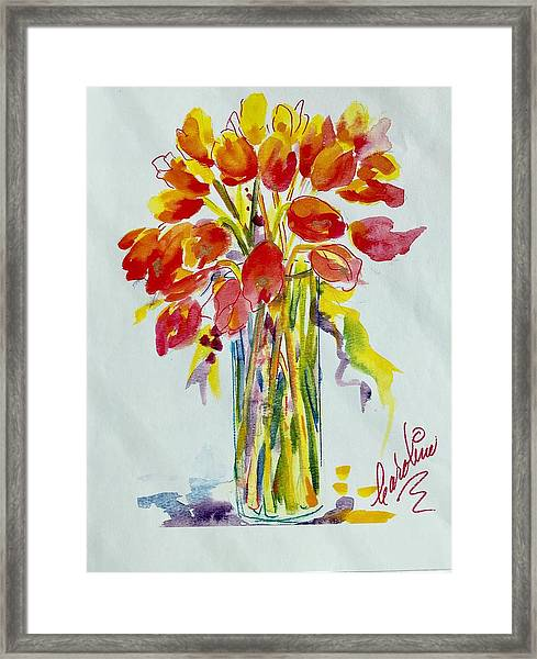 Tulip Fire Element Framed Print