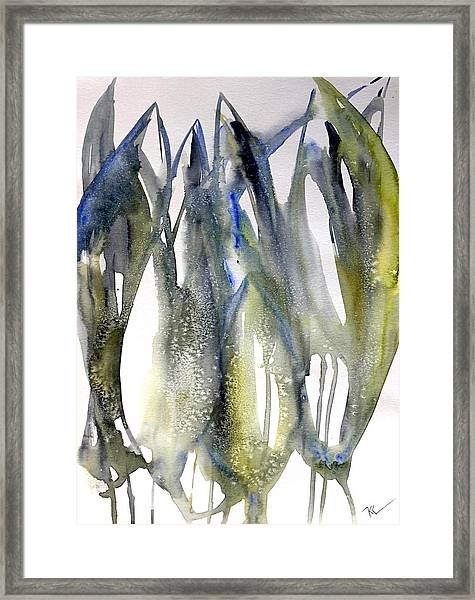 Framed Print featuring the painting Tulips by Katerina Kovatcheva