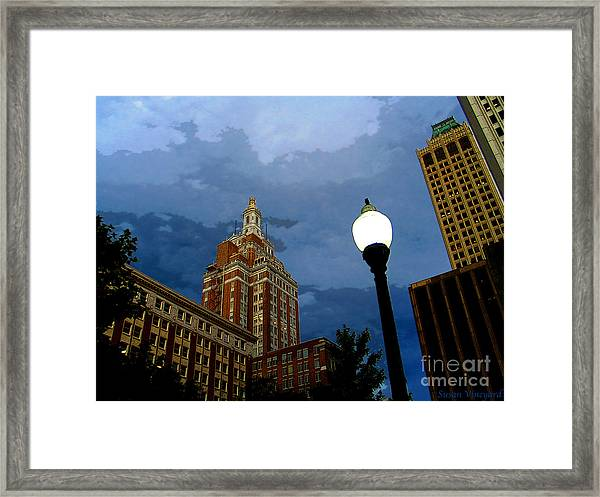 Tulsa Streetscape Framed Print