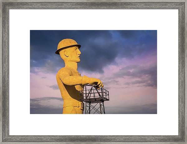 Tulsa's Golden Driller Up Close - Tulsa Oklahoma Art Framed Print