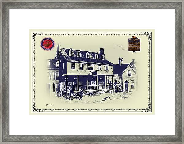 Tun Tavern - Birthplace Of The Marine Corps Framed Print