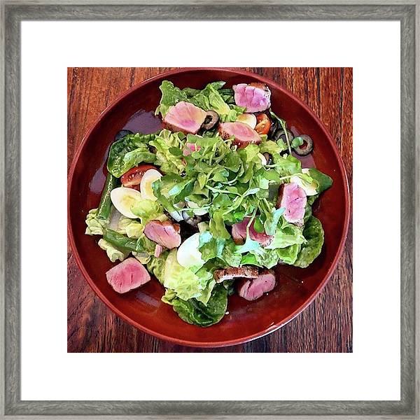 Tuna Salad Framed Print by Arya Swadharma