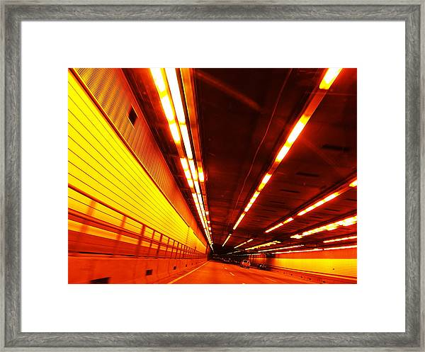 Tunnel Drive Framed Print