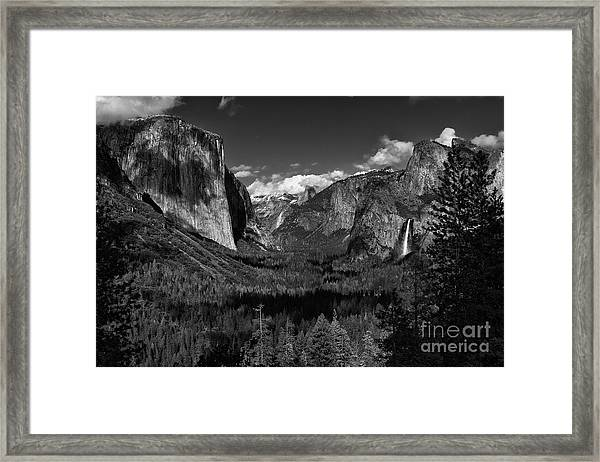 Tunnel View Black And White  Framed Print