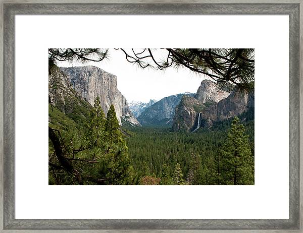 Framed Print featuring the photograph Tunnel View Framed by Lorraine Devon Wilke