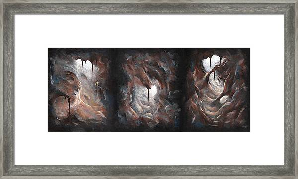 Tunnel Vision - Triptych Framed Print