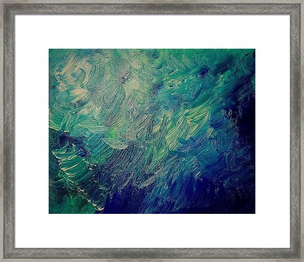Turbulent Sea Framed Print
