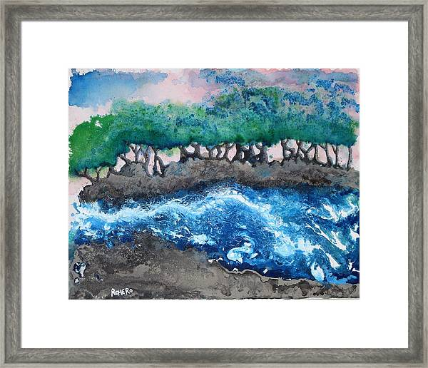 Framed Print featuring the painting Turbulent Waters by Antonio Romero