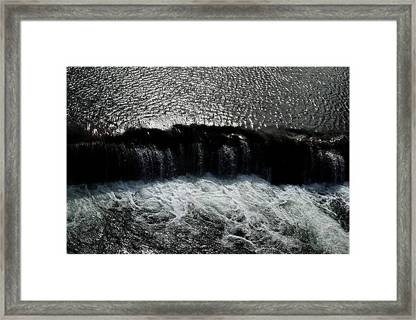 Turbulent Water Framed Print