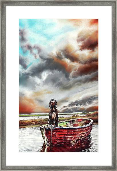 Turner's Dog Framed Print