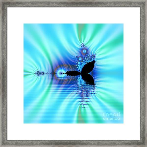 Turquoise Lake Fractal Framed Print